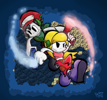 Quote and Curly - Cave Story by Porcodotranstorno