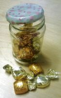 Upcycled sweetie jar by Lovelyruthie