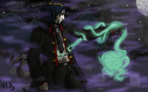 A cast of light upon the stone of the dead. by Harmonic-Anarchist