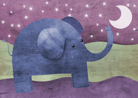 Elephant wishes upon a star by HannahChapman