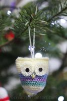 Crochet Owl Decorations by bicyclegasoline