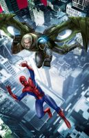 spidey v vulture by toonfed