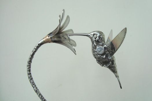 scrap stainless hummingbird by ShaneMartinDesigns
