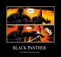 Black Panther Demotivational Poster by Ele-Bros