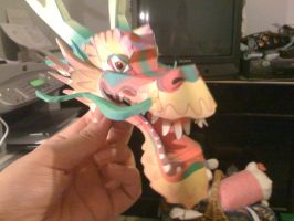 WIP Papercraft: Lucky Dragon by Tsunaide