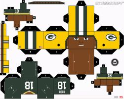 Randall Cobb Packers Cubee by etchings13
