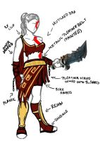 Female Kratos Concept by Tprinces