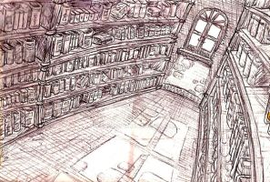 Ye Olde Library by Escopeto