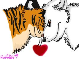Wolfie and Tiger by whitewolfspup
