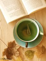 tea. books. autumn. by katharinamarie
