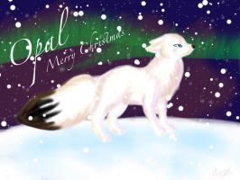 Opal Christmas Wallpaper by silverXdragonCotC