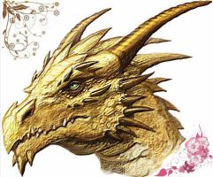Picture for 'Gold Dragon' Series. by Cybeliona