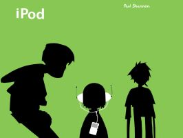 iPod Gorillaz by luap89