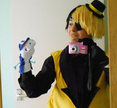 Bill Cipher Cosplay Dipper by AmyChoppies