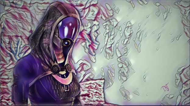 Tali Zorah / Digital Art by DjTrecool