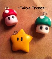 Mario Necklaces Charms yey by Tokyo-Trends