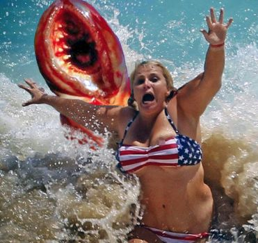 Vore Manip: Lamprey, screaming girl and waves by wsaef