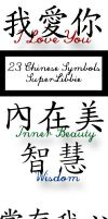 Chinese Symbol PS Brushes 1 by superlibbie