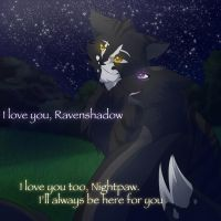Ravenshadow And Nightpaw by RiverSpirit456