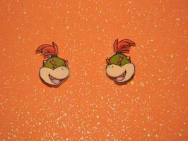 Bowser Jr. Earrings by kouweechi
