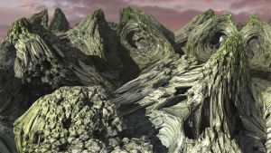 Atop The Fractal Peaks by digitallyinked3D