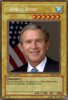 yu gi oh card: George Bush by dragynnboy