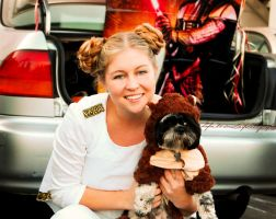 Leia and her ewok by AlliePhotoYo