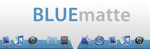 Blue Matte Dock for Leopard by epicXbread