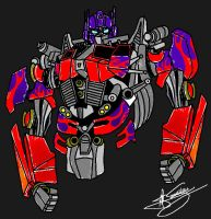 Quick Optimus Drawing- MSPaint by RyGuy52