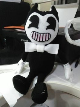 My very first hand made Bendy plushie~!  by Nikko-Kai-Cutie