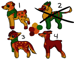 OPEN Autumn Adopts! by cursedfireadoptables