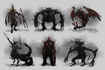 Monster and Heroes Thumbnails by SleepyOctopus