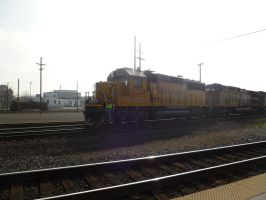 UP GP60 2034 comes back by BNSF