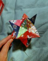 Lesser Stellated Dodecahedron, in progress by lyzardcraft