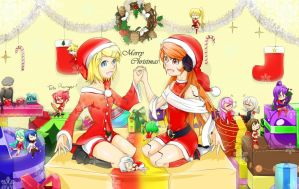 Vocaloid christmas by Hhell