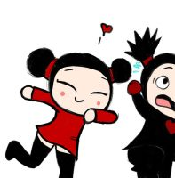 Pucca loves Garu by AmigoDan