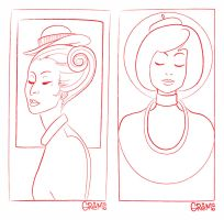 girls lineart by gremo-stock