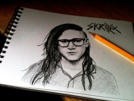 Skrillex - Quick sketch by jojo-shakur