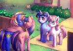 Commission: Meeting the Sparkles by bakki