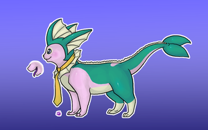 Michi's Vaporeon form ref by BakaMichi