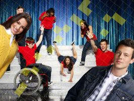 Glee rachel and Finn by sTEPHEN97