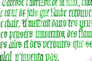 Gothic Textura green writings by hipe-0