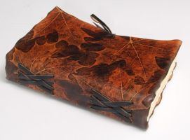 OOAK Maple Leather Journal by gildbookbinders