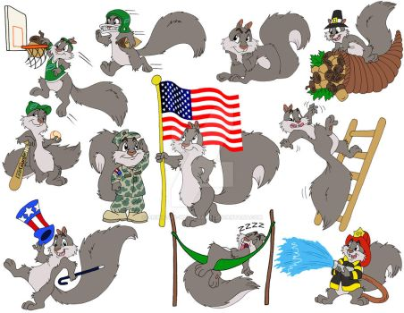 Squirrels for any Occasion by Animator-who-Draws