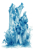 Drawing 2014 Treetrunk Smk 002 by JakobHansson