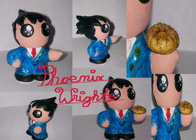 Handmade Phoenix Wright Figure by sonicluver101
