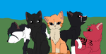 Sunstar and Mates by jayfeather55220