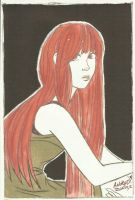 Girl with Red hair by AndrewLaFish-Arts