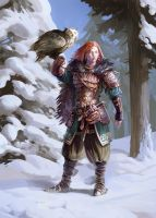 Owl Huntress by Jastorama