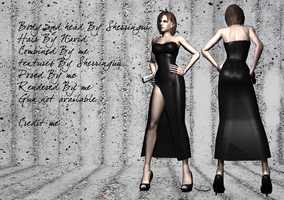Jill black dress short hair by MsLawlipop